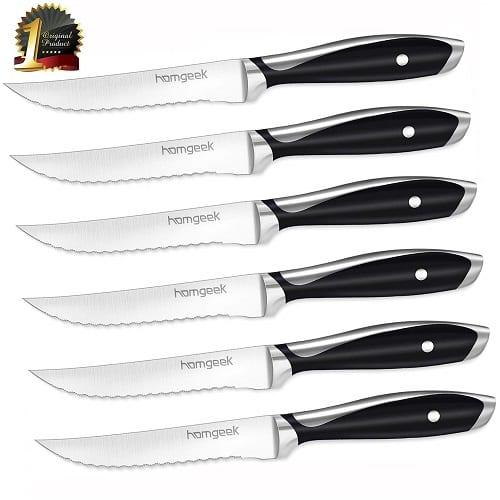 Steak Knife Set,German X50Cr15 Stainless Steel Steak Knives