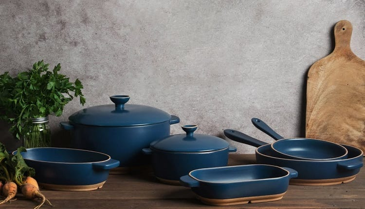 Blue Ceramic Cooking Cookware