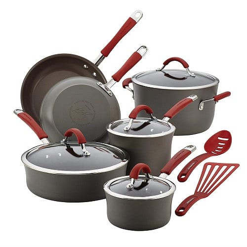 Rachael Ray 87630 Cucina Hard Anodized Nonstick Cookware Pots and Pans Set