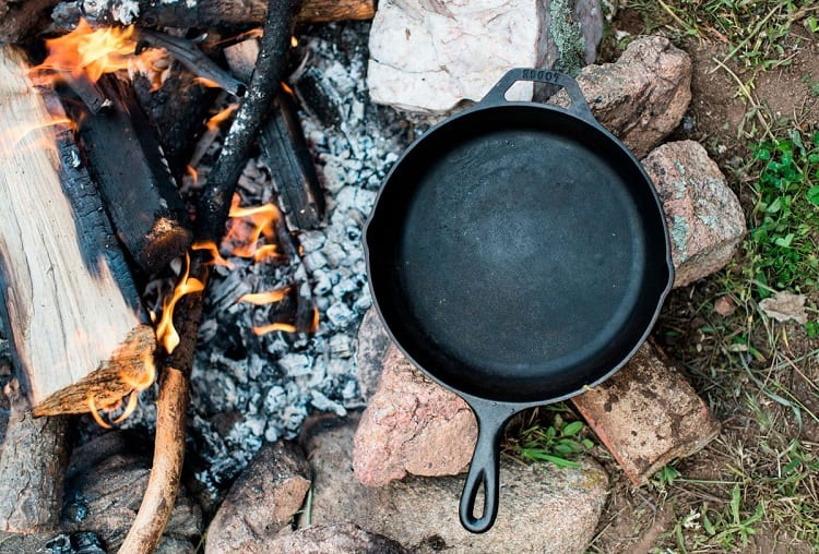 Using Frying Pan On Camping