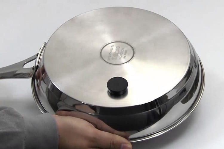 Holding Induction Cookware